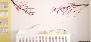 Girls Wall Stickers and Full-Sized Wall Murals